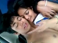 sexy desi Indian legal age teenager exposed in car