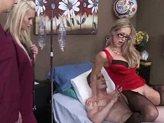 (brandi love) Patient With an increment of Doctor In Hard Lovemaking Adventure Tape clip-10