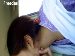 Shareefa cute desi sexually lustful BBC slut kiss in car with paramour