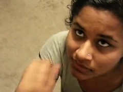 Beautiful indian girfriend facial