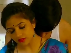 Mallu aunty and uncle sexy liaison a kitchen glum impulse saree