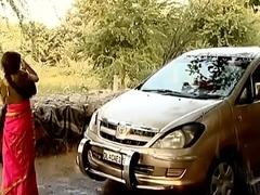 ---indian village bhabhi cleaner car..{uncut ex...