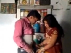 Indian Wife and Husband just about Romantic Mood